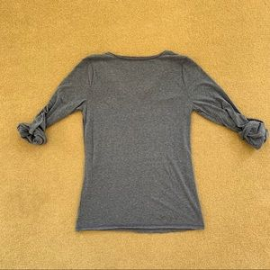 a.n.a Tops - a.n.a 3/4 Sleeve T-Shirt, Heathered Blue, Size L
